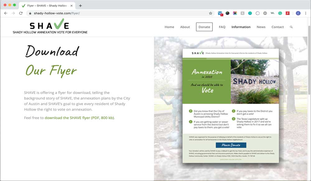 SHAVE Website